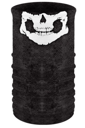 TU2921 Skull Jaw on Leather Look Head & Neckwear
