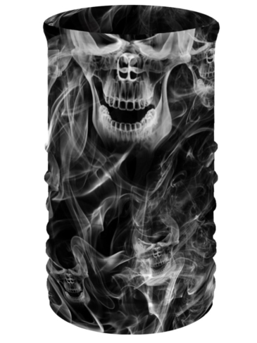 TU2923Smoky Skulls-Head & Neckwear Tube