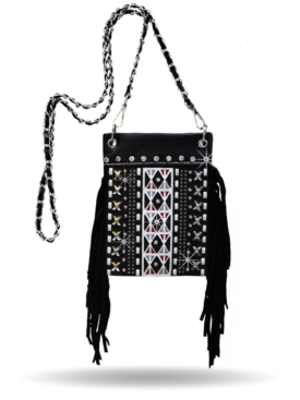 HB-W140 Eclectic Fringed Hip Bag
