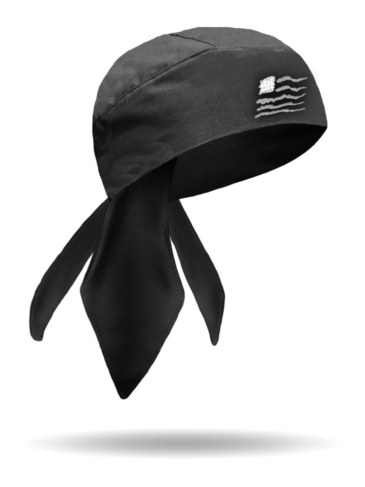 HW1115-Grey-Americana Wavy Flag Headwrap