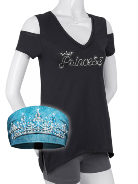 COMBO-WT0685-2630-KB3018-Blue-Princess-Shirt and Tiara Knotty Band