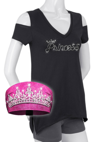 COMBO-WT0685-2630-KB3018-Pink-Princess Shirt and Knotty Band