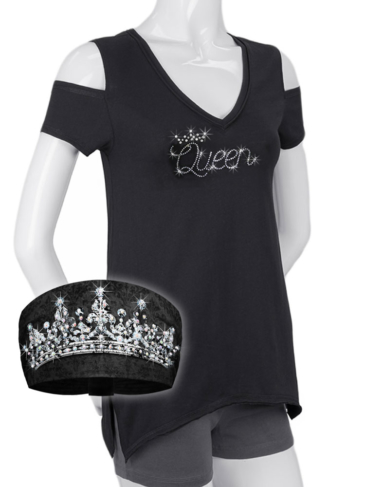 COMBO-WT0685-2730-KB3018-Black-Queen-Shirt and Knotty Band
