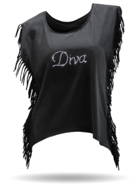 Diva-Black-FringeShirt