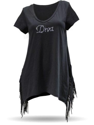 Diva-HalfFringeShirt