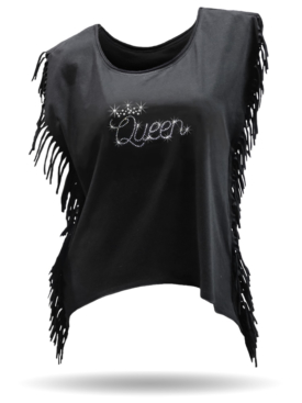 Queen-Black-FringeShirt