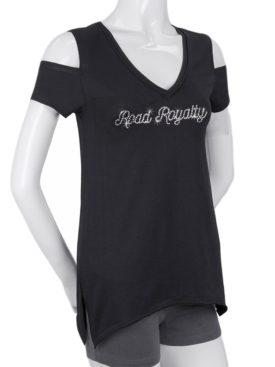 WT0685-2824 Road Royalty-Black-Biker Shirt