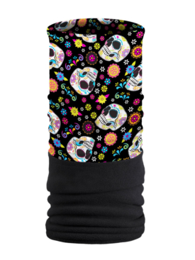 FTU1599-Fiesta Skulls-Fleece Tube