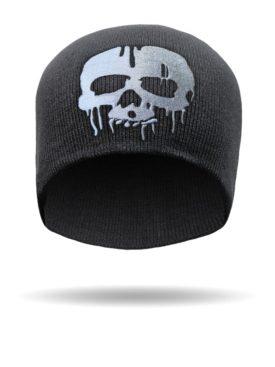 B1428-Black-Drip Skull