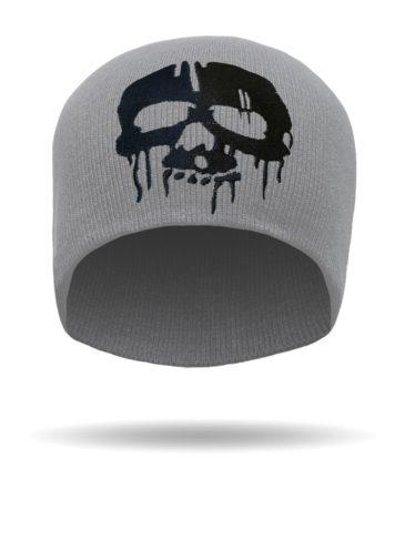 B1428-Grey-Drip Skull