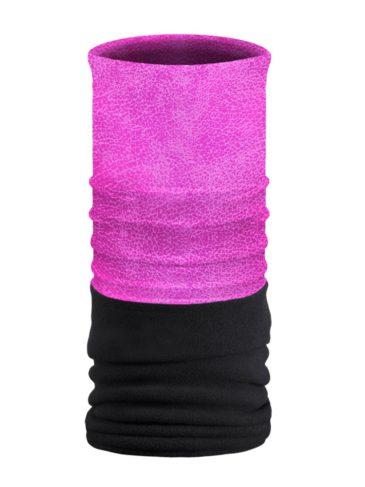 FTU2927-Pink-Leather Look-Fleece Tube