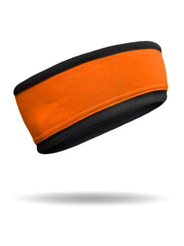 RHB2815-B-O-Black&Orange-ReversibleSportHeadband