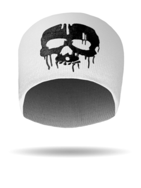 B1428-Blk-White-DrippingSkull