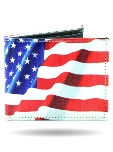 W3129-USA Flag Biker Wallet