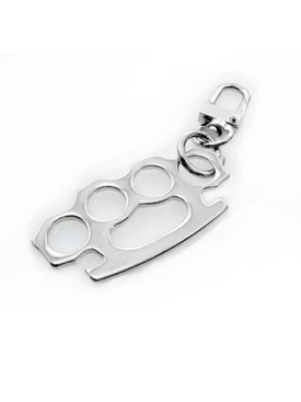 CO1228-Brass Knuckles-Zipper-Pull-Key Chain-Clip-on
