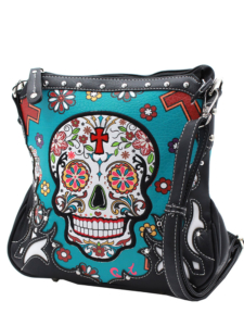 HP-2933-Turq-SugarSkull-CrossbodyPurse
