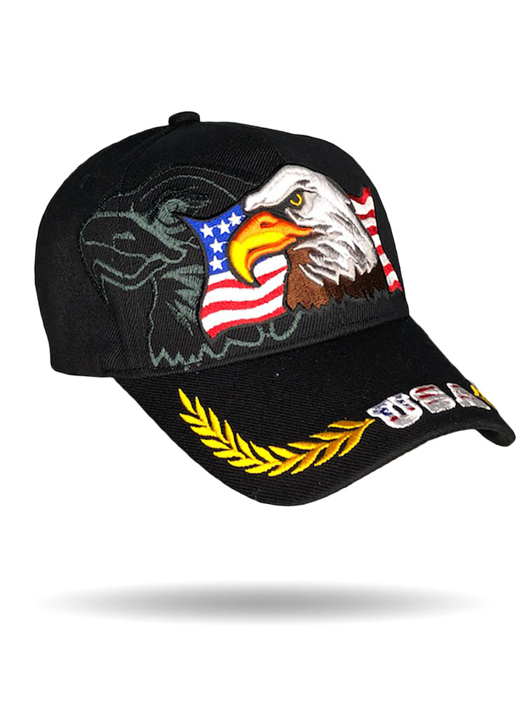 3D Eagle Vintage Brim Baseball Cap