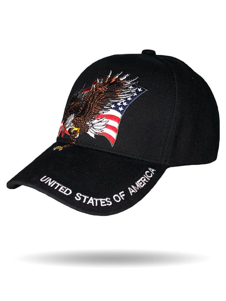 Soaring Eagle USA Brim Baseball Cap