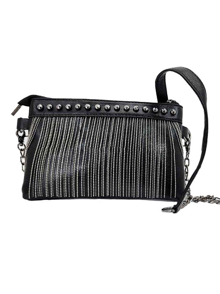 Silver Chain Tassel Handbag