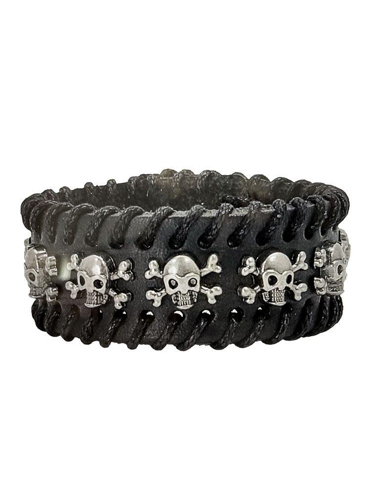 Skull & Crossbones Wide Cuff Bracelet