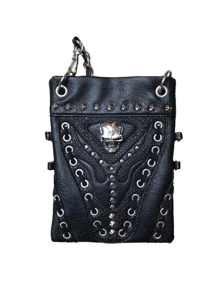 Skull Embellished Hip Bag